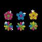Little Flowers Fresh Style Neon Stud Transfer