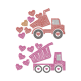 Bring My Love By Truck Neon Stud Transfer