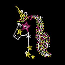Unicorn in Circus Neon Stud Transfer