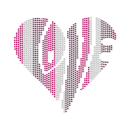 Modern Heart for Love Neon Stud Transfer