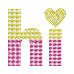 Hi Honey Custom Greetings Neon Stud Transfer