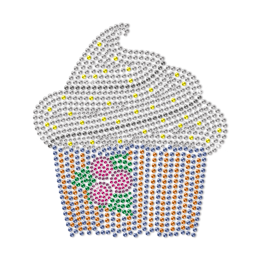 Blueberry Taste Cupcake Motif Neon Stud Transfer