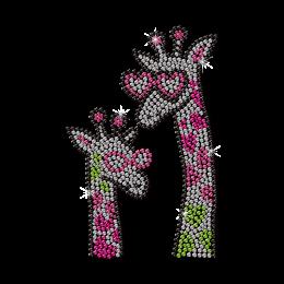 Fashion Giraffe Family Neon Stud Transfer