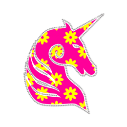 Pink Unicorn In Dream Heat Transfer