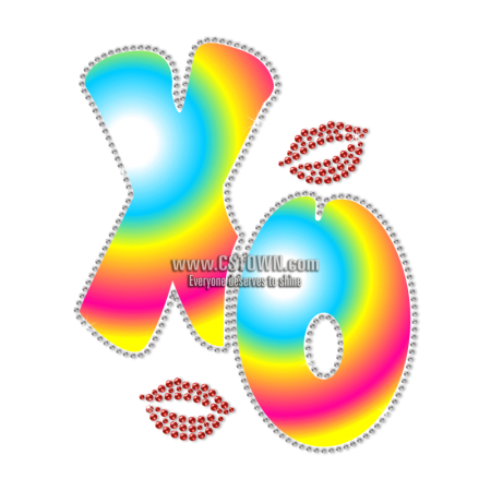 Letter Themed Hug And Kiss Heat Transfer