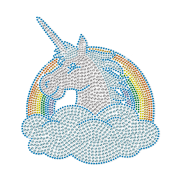 Happy Unicorn Cartoon Crystal Rhinestone Transfer