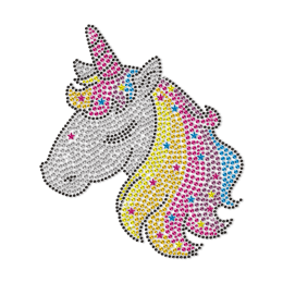 Cute Unicorn Princess Rhinestone Transfer