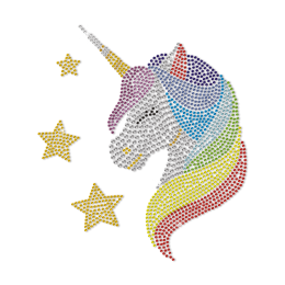 Unicorn In My Dream Bling Rhinestone Transfer