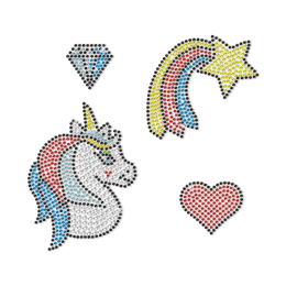 Crystal Unicorn For Girls' Dream Rhinestone Transfer