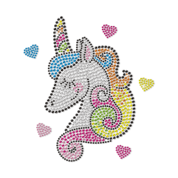 Custom Shy Unicorn for Girls Neon Stud Transfer