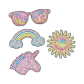 Cute Icon Sunglasses Rainbow Unicorn Rhinestone Transfer