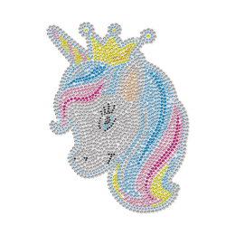 Cartoon Little Unicorn Princess Rhinestone Transfer