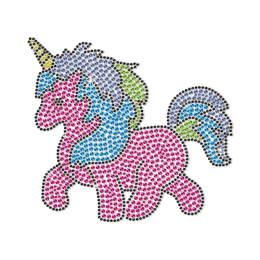 Cute Unicorn Motif Neon Stud Transfer