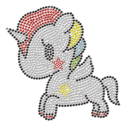 Crystal Little Unicorn Motif Rhinestone Transfer