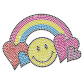 Love Rainbow And Smile Neon Rhinestud For Children