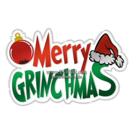 Wholesale Merry Christmas Wishes with Cartoon Christmas Hat and Ball Transfer