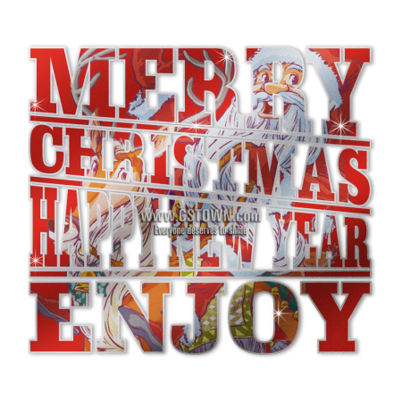 advanced pu cartoon santa claus wish you merry christmas transfer