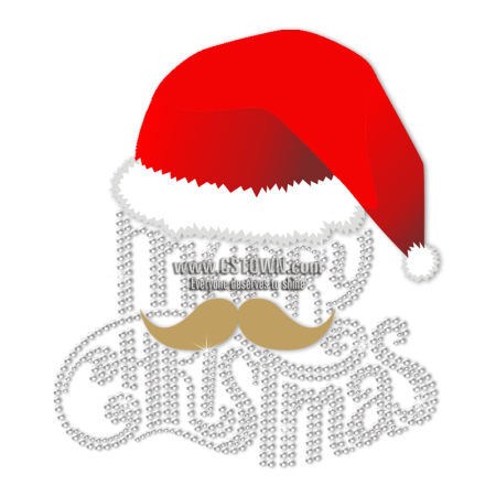 Custom Christmas Heat and Moustache Merry Christmas