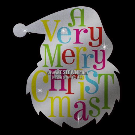 Custom Advanced PU Santa Claus A Very Merry Christmas