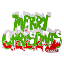 Custom Glitter Christmas Atmosphere Letters Heat Transfer