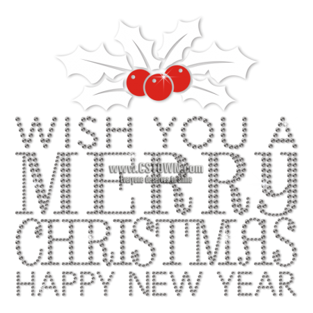Wholesale Crystal Christmas Themed Rhinestone Transfer