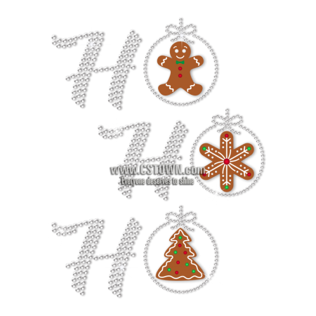 The Gingerbread Man Christmas Themed Rhinestone Transfer