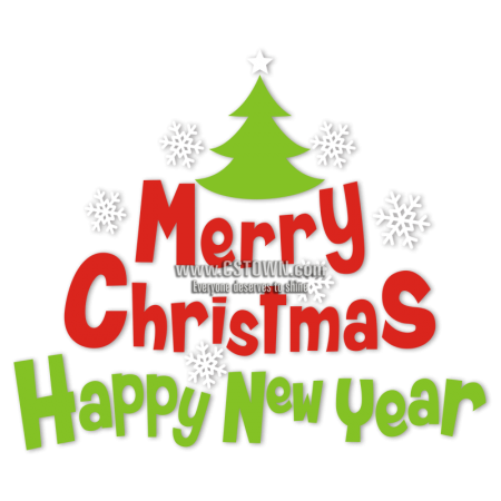 Cartoon Christmas Tree with Cute Letters Christmas Themed Heat Transfer