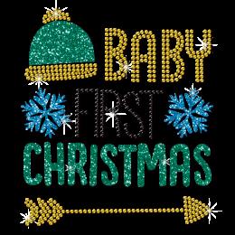 Baby First Christmas Rhinestone Transfer
