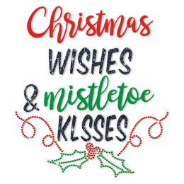Printable Vinyl And Glitter Material Christmas Words Transfer