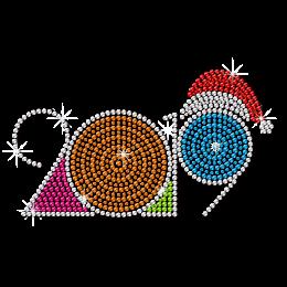 2019 New Year Theme Motif Rhinestone Transfer