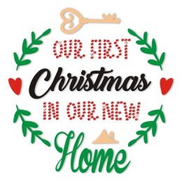 Our First Christmas In Our New Home Rhinestone Transfer
