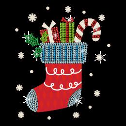 Printable Vinyl Christmas Sock Motif Transfer