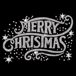 Bling Glitter Merry Christmas Heat Transfer