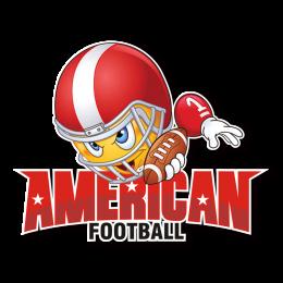 Cartoon Soybean-Man American Football Heat Transfer