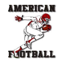 Run! American Football Iron on Design