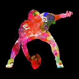 Dynamic Pink Football Transfer Design