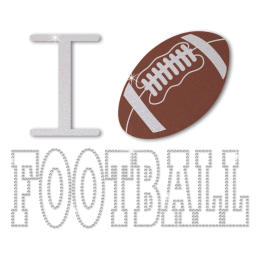 Fancy I Love Football Iron on Design