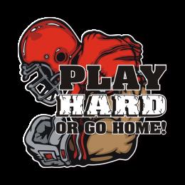 Play Hard or Go Home Football Hotfix Design