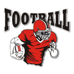 Man in Red Football Mom Iron on Transfer Design