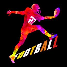 Avant-Garde Pink Football Heat Transfer
