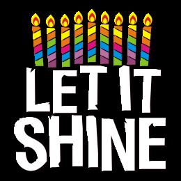 Let It Shine Hanukkah Themed Printable Vinyl Transfer