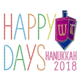Metal Rhinestud Happy Days Happy Hanukkah 2018 Transfer