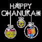 Happy Chanukkah Bling Rhinstone Heat Transfer