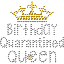 Birthday Queen & Quarantine Rhinestone Heat Design for Mask