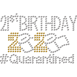 Interesting Quarantined 20th Birthday Rhinestone Transfer for Mask
