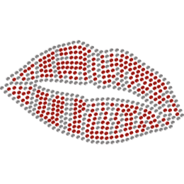 Blazing Red Lips Crystal Heat Transfer Pattern for Mask