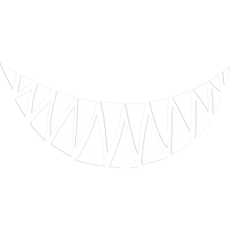 Smile with Sharp Teeth Glow in the Dark Transfer for Mask