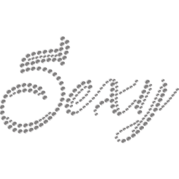 Twinkling Letter Sexy Iron-on Rhinestone Transfer for Mask