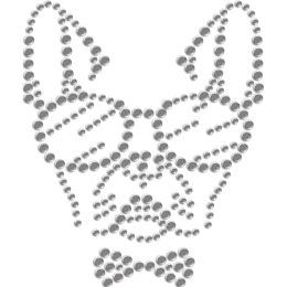 Cool Bulldog with Sun Glasses Rhinestone Transfer for Mask
