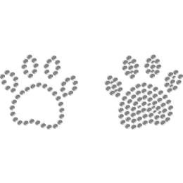 Lovely Little Paws Rhinestone Iron-on Transfer for Mask